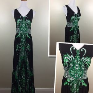 NWT INC Indian Summer Rhinestone Print Maxi Dress